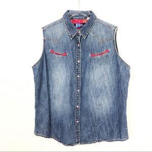 Wrangler Blues Vintage Western Wear Vest Size XL